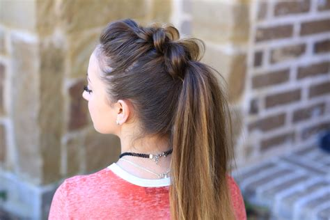 pull  ponytail cute girls hairstyles