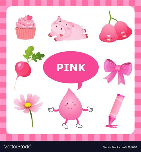 learning pink color vector image   images color