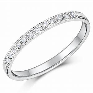 2mm palladium diamond eternity wedding rings palladium for Diamond wedding rings uk