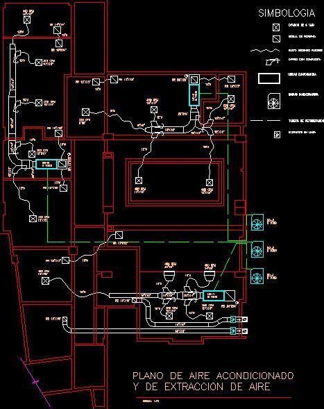 Aire acondicionado en AutoCAD   Descargar CAD gratis (33