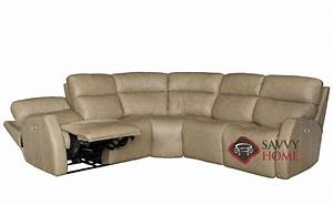Quick ship aaron by bernhardt leather true sectional in by for Bernhardt leather sectional sofa prices