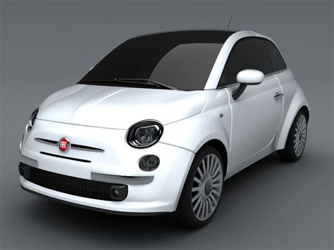 Fiat 500 Models by Fiat 500 3d Model Max Obj 3ds Cgtrader