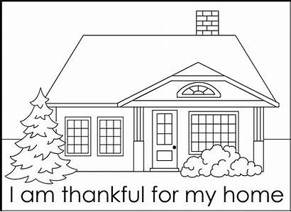 Coloring Pages Thankful Am Thanksgiving Template Fhe