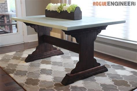 Monastery Dining Table { Free Diy Plans } Rogue Engineer Unique Side Tables Living Room Console Table Ideas Modern Design Designs Color Combination Corner Decor Rooms With Off White Walls Funky Lights