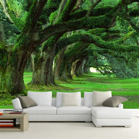 customized  size wallpaper  modern natural landscape