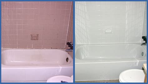 Resurfacing Bathroom Tile by An Exle Of Professionally Reglazed Tub And Tile