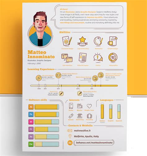 Creative Resume Templates by Matteo Innominato Creative Resume Template Prints