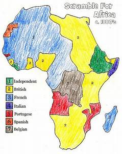 European Colonization of Africa Map - The Scramble for ...