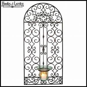 candle wall art decor wrought iron wall art decor large With kitchen cabinets lowes with wrought iron sun wall art