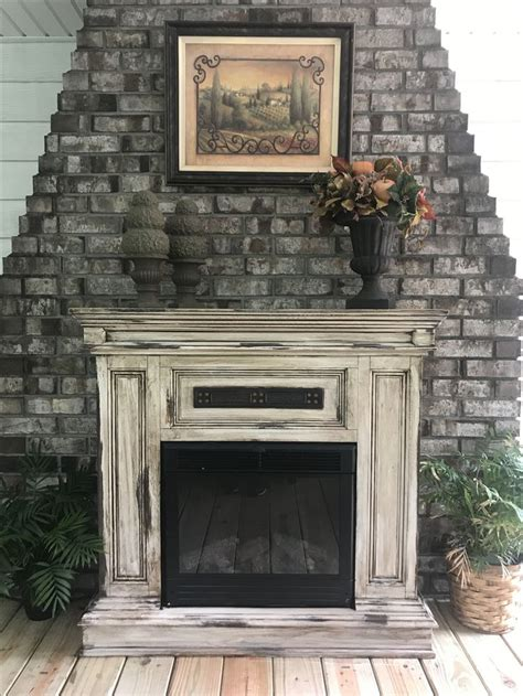 distressed fireplace mantels best 25 distressed fireplace ideas on brick