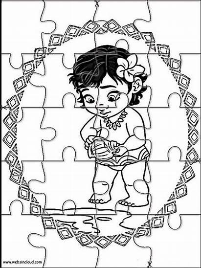 Vaiana Moana Puzzles Oceania Rompecabezas Imprimir Dessin