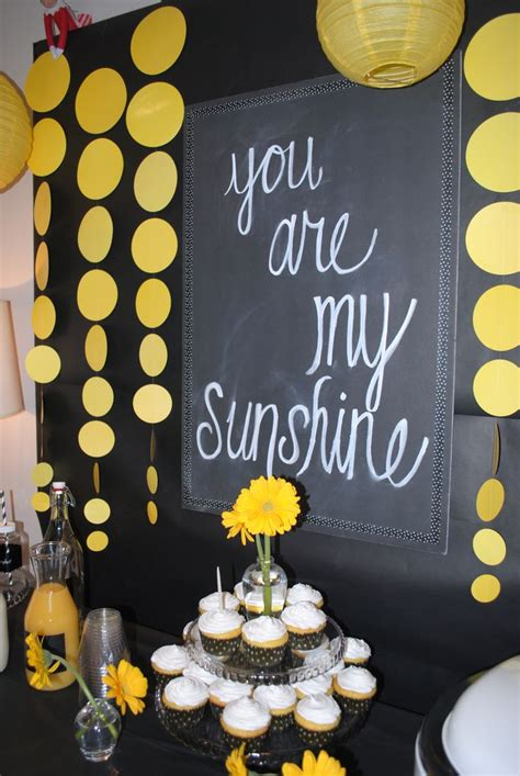 ideas  yellow party themes  pinterest