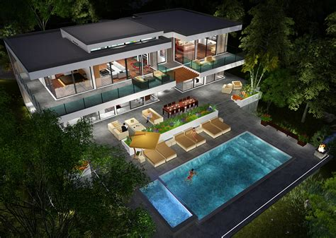 Home Design Level 106 : Buy Our 2 Level Modern Glass Home 3d Floor Plan