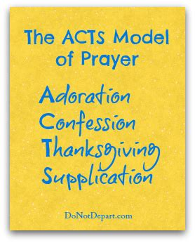 the acts model a simple method of prayer