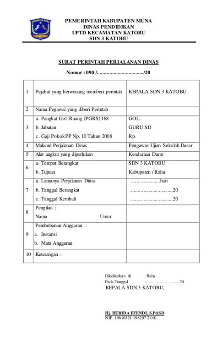Contoh Surat Tugas Perjalanan Dinas by Surat Perintah Perjalanan Dinas