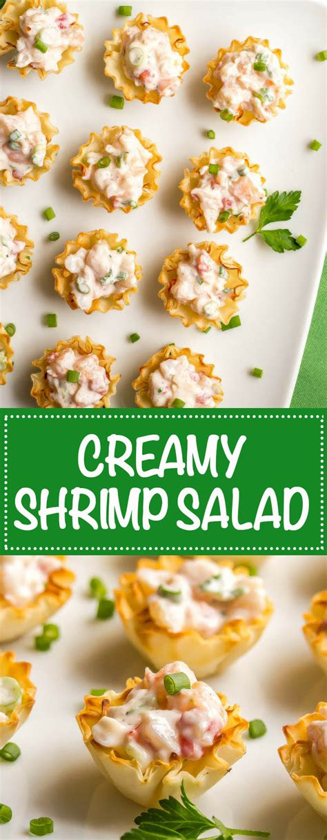 Lots of delicious and healthy shrimp recipes that can be served to all your family and friends anytime of the year. Creamy shrimp salad - Family Food on the Table