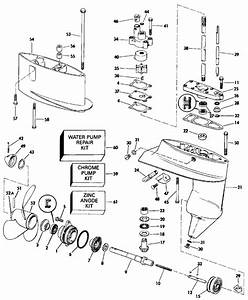 Johnson Gearcase Parts For 1991 4hp J4rdheia Outboard Motor