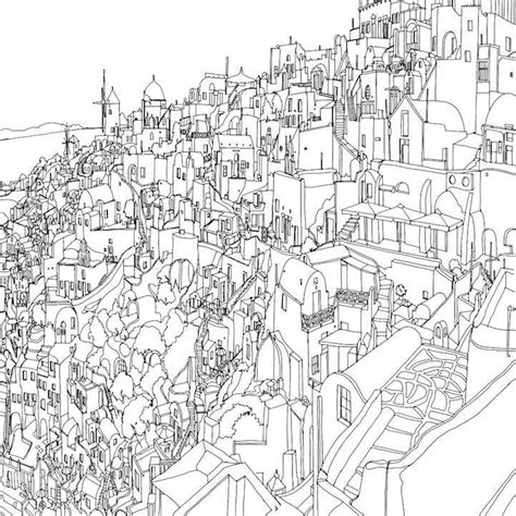 adult coloring books urban fantastic cities an exquisite architectural coloring book