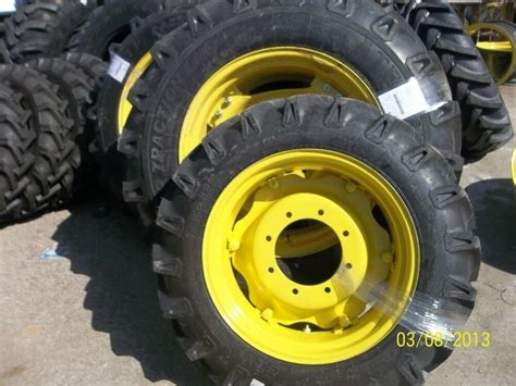 John Deere 3525 Two 14.9x28 Tractor Tires W/rims & Two 9