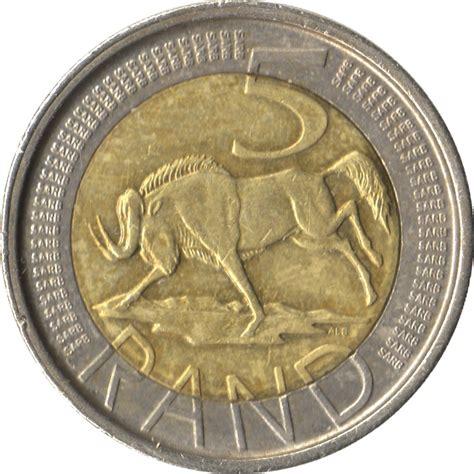 5 rand afrika dzonga south africa south africa numista