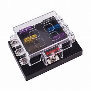 6 Way Dc 32v Circuit Car Fuse Box Set Car Automotive Atc