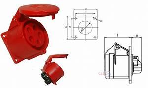 Cee Steckdose 32a : cee drehstrom einbau steckdose 32a 5 ip44 v pce 325 6 ebay ~ Watch28wear.com Haus und Dekorationen