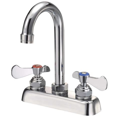 binford commercial 2 handle kitchen faucet in chrome