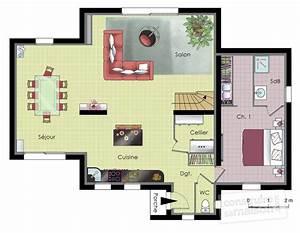 maison moderne et ecologique detail du plan de maison With plan de maisons modernes