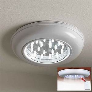 Ceiling light fixtures with remote control : Ceiling lighting cordless light with remote