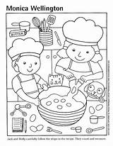 Coloring Pizza Cooking Pages Printable Kitchen Sheets Clipart Cook Preschool Boys Google Popular Story sketch template