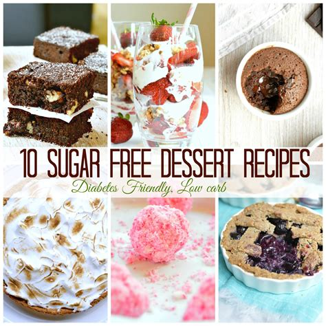 10 sugar free dessert for diabetics sweetashoney