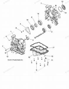 Polaris Atv 2014 Oem Parts Diagram For Engine  Crankcase