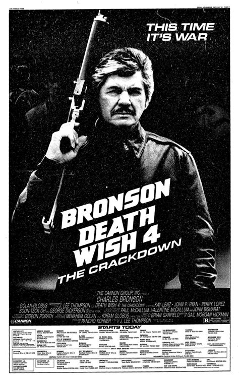 Death wish turns 45 today. Topic: Death Wish 4: The Crackdown | New Beverly Cinema