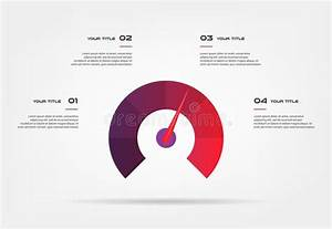 Speedometer Infographics With Circle  Element Of Chart