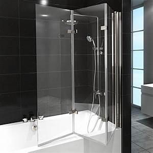 Glas Duschwand Badewanne : duschabtrennung badewanne duschwand badewannenfaltwand glas dusche 3 fl gel nano rechts ~ Frokenaadalensverden.com Haus und Dekorationen