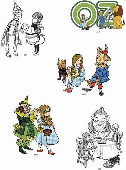 Wizard Oz Clip Illustrations Denslow Chaos Illustration
