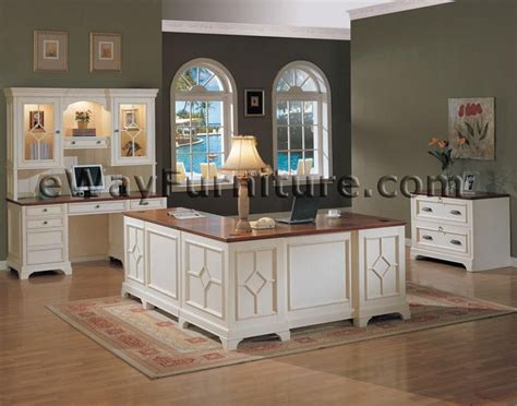 White Office Furniture by White Office Furniture Collections Distressed White