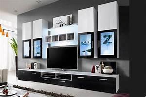Meuble Tele Bas : meuble tele bas laque noir ~ Teatrodelosmanantiales.com Idées de Décoration