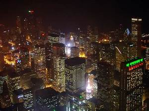 Panoramio - Photo of Chicago Night View from the Sears ...