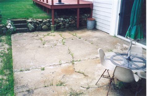 how to fix cracked concrete patio on your own thats my
