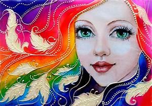 glass, painting, of, rainbow, girl, , u2013, creative, art