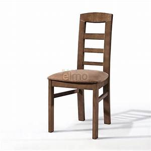 Chaise de salle a manger chene massif dossier bois for Chaises de salle À manger en cuir pour petite cuisine Équipée