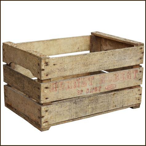 caisse a pommes en bois caisse brocanteur prof 29cm