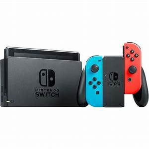 Nintendo Switch   Red With Super Mario Odyssey