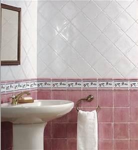 beautiful faience vert et blanc images design trends With carrelage salle de bain rose