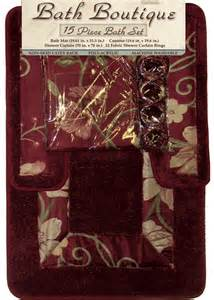 burgundy bathroom accessories set bath rug sets with curtains roselawnlutheran
