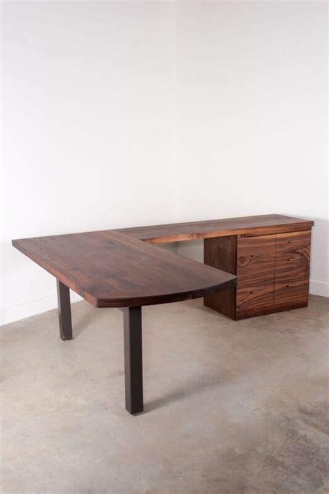 hand crafted walnut  shaped desk  shaped desk diy