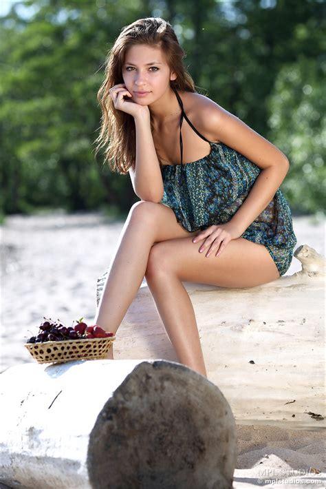 Adorable Teen On The Beach