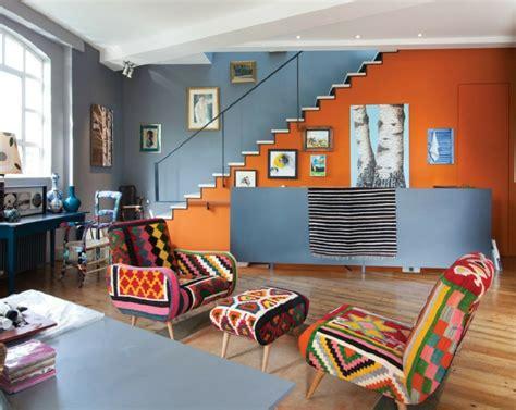 wandfarbe ideen wohnzimmer 60 wandfarbe ideen in orange naturinspirierte gestaltung