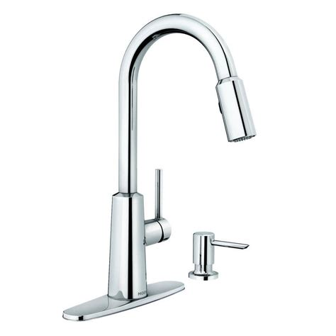 moen nori chrome 1 handle pull sink counter mount
